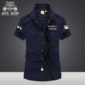 【包邮】AFS JEEP战地吉普夏季男士短袖衬衫