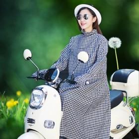 防晒衣电动车遮阳披肩摩托车摩托车紫外线长袖衫正反