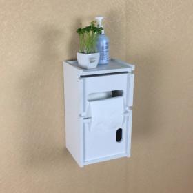 可储物的卫生间纸巾盒免打孔