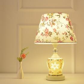 卧室床头台灯创意陶瓷上下发光台灯小夜灯