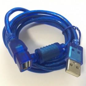 USB延长线 带磁环蓝色纯铜USB公对母数据线