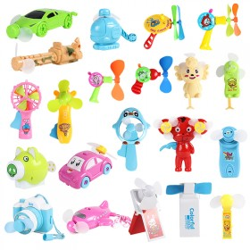 儿童玩具手摇手压风扇卡通便携式特价电动迷你风扇