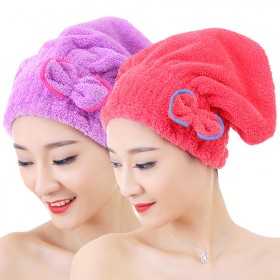 2条装干发帽强吸水加厚檫头发速干浴帽包头毛巾