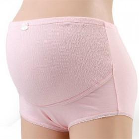 孕妇内裤纯棉高腰怀孕期透气夏季全棉无痕托腹可调
