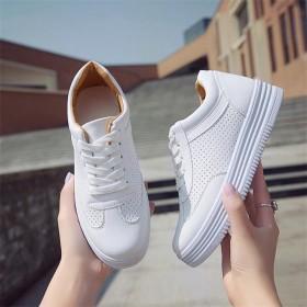 夏季新款健身小白鞋女鞋透气厚底运动鞋时尚单鞋学生