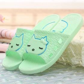 居家浴室拖鞋塑料鞋子卡通洗澡男女情侣平底一字拖包邮