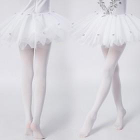 天鹅绒女童加档打底裤新款糖果色裤袜中大儿童舞蹈袜
