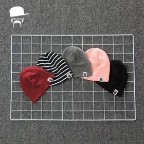 婴儿帽子春秋纯棉新生儿胎帽