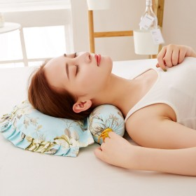 全棉颈椎枕圆形成人单人保健护颈枕