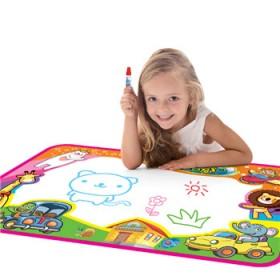 儿童水画布神奇魔法绘画布涂鸦毯超大号 水写画宝宝