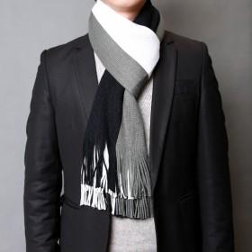 男士流苏围巾年轻人秋冬季学生商务韩版围脖包邮