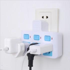 防雷拓展插座插排插座转换器一转三独立带开关