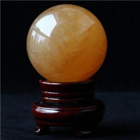 天然黄水晶 水晶球
