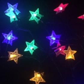 太阳能led灯串彩灯闪灯星星灯节日装饰灯婚庆星星灯