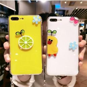 夏日苹果7plus手机壳硅胶6s个性卡通挂绳