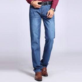 夏季薄款牛仔裤棉男士商务休闲长裤