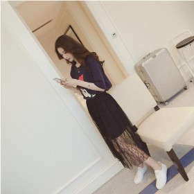 2017新款潮韩版显瘦T恤两件套装裙子夏季连衣裙女