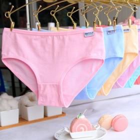 4条装,女士纯棉内裤大码低腰三角裤