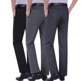 中年男士休闲长裤商务中老年人男裤子春夏季爸爸装薄款