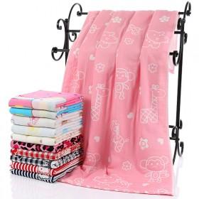 三层纯棉纱布浴巾全棉宝宝浴巾纯棉抱被70x140