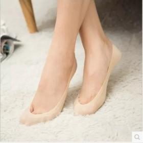 5双夏季女士冰丝船袜女浅口防滑袜隐形袜子女纯色薄款