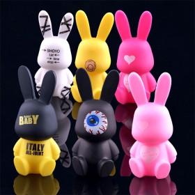 baby兔 卡通可爱搪胶钥匙扣 多款选择 挂件装饰