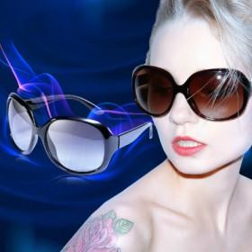 防紫外线太阳镜时尚女款大框墨镜开车驾驶镜