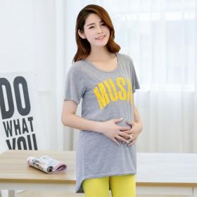 孕妇卡通短袖舒适透气孕妇上衣孕妇装