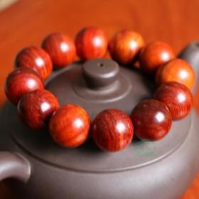 老挝大红酸枝手串 正宗男士2.0 原木佛珠手链手持