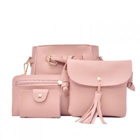 时尚四件套多功能女士单肩斜挎包钱包卡包