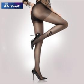 丝袜夏季黑色花纹修身超薄大码隐形性感袜女