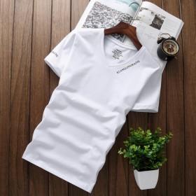 【莫代尔棉】【亏本冲量】夏季青年男士V领短袖T恤