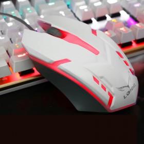 台式机笔记本电脑有线发光鼠标LOL游戏七彩发光鼠标