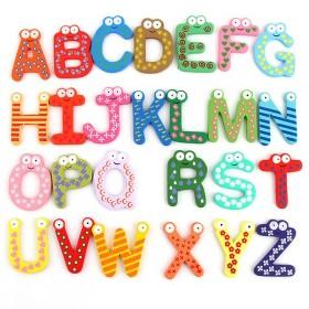 木质儿童早教冰箱贴字母数字卡通冰箱装饰磁贴铁创意玩