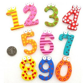 数字冰箱贴 卡通木质冰箱贴早教学习幼儿童玩具英文字