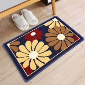 棉麻编织底卫浴卧室门口吸水小地垫进门脚垫
