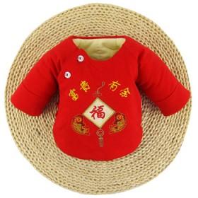 新生婴儿衣服0-3月纯棉花半手工棉袄薄棉衣中厚上衣