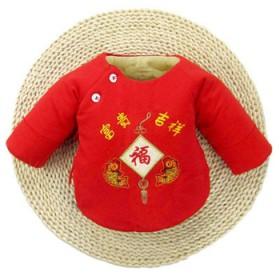 新生儿衣服半背婴儿棉袄上衣纯棉厚和尚服0-3月春秋