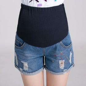 孕妇短裤夏季外穿孕妇托腹裤牛仔裤