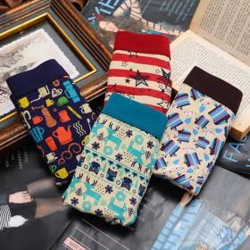 街印4件装男士内裤 卡通青年印花性感时尚四季可穿潮