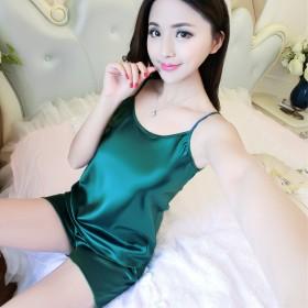 2017夏季新款性感舒适吊带丝绸薄款睡衣甜美小清新