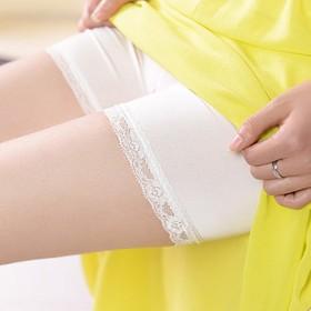 2017夏季新款冰丝蕾丝短裤女薄防走光保险裤