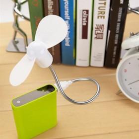 迷你蛇形USB风扇 送4寸铁艺铝叶风扇