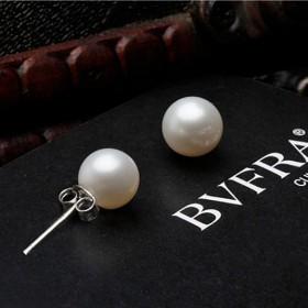 S925 纯银锆石耳环 爆款 天然珍珠耳钉
