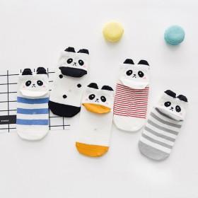5双装立体动物耳朵棉袜春秋款1-12岁短袜船袜