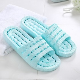 【夏季凉拖】夏季浴室家居女士塑胶软底镂空一字拖