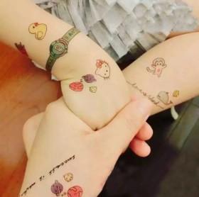15张儿童纹身贴韩版可爱小清新卡通防水图案纹身贴