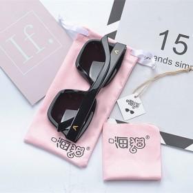 眼镜袋便携简约墨镜袋便携眼睛袋太阳镜袋布袋粉色小清