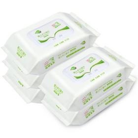 手口湿纸巾80抽X5包 带盖 不连抽
