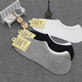 【5双】无印良品男士全棉船袜薄款防臭隐形短袜子